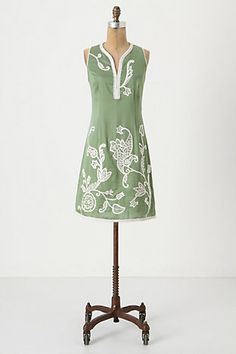 Oy, I love embroidery so much. This is a lovely dress. Might need to try it on to see if the cut is flattering, but I love everything else about it.