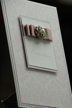 Einladungskarten - Einladungskarte Hochzeit Strasssteine, Perle - ein Designerstück von EvasCardArt bei DaWanda