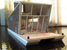 Das Schwimmhaus houseboat prototype, Germany