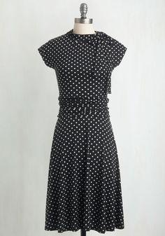 FOLTER INC Dance Floor Date Dress in Dots