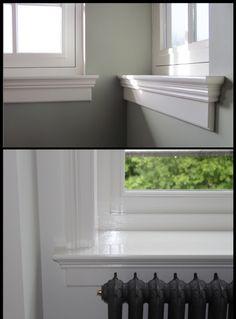 Windows And Doors, Interior Design, Interior, Home Diy, Window Casing, Window Trim, Home Deco, Ceiling Design, Window Design