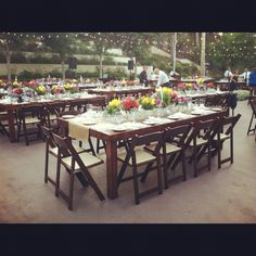 Natural wooden tables. Outdoor terrace at MountainGate Country Club http://www.countryclubreceptions.com/wedding-venue/mountaingate-country-club