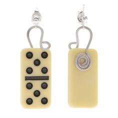 pinterest jewlery dominoes | JEWELRY / Tutorial - How to: Domino Earrings | Beadaholique