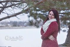 senior photography snow