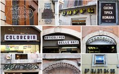 A collection of typography and signage--both new and very old--from a recent trip to Italy.