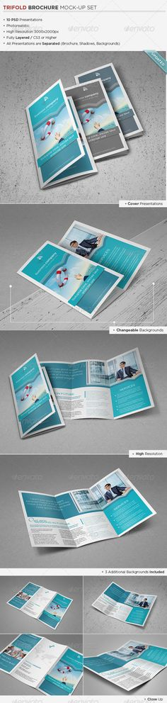 Trifold Brochure Mock-Up :  Check out this great #graphicriver item 'Trifold Brochure Mock-Up' http://graphicriver.net/item/trifold-brochure-mockup/3068068?ref=25EGY