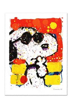 """Cool & Intelligent"" Hand Signed Original Lithograph on Paper"
