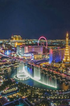 Another night view of Las Vegas, Nevada.