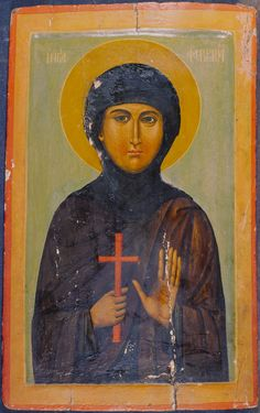 Fevronia the Righteous Virgin Martyr of Nisibis, the Much-suffering / Αγία Φεβρωνία Catholic Art, Religious Art, Byzantine Icons, Orthodox Icons, Christian Art, Medieval, Saints, Religion, Photo Wall