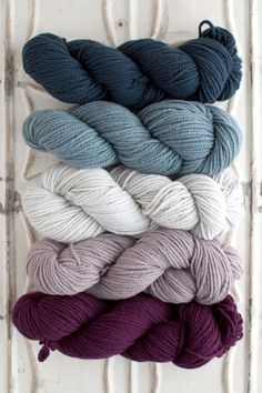 The Yarn for Blue Stone Bridge Cowl kit includes 5 skeins of Chunky Merino - 1 skein each of Colors A, B, C, D, and E. This is enough yarn to make a few of these cowls! Get more info about Chunky Meri