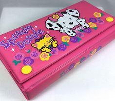 VTG SANRIO (SPOTTIE DOTTIE+SASSY) ❤︎ PENCIL CASE BOX ❤︎ TRINKET RARE KAWAII 90s