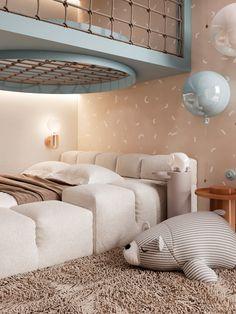Flat White on Behance Cool Kids Bedrooms, Kids Bedroom Designs, Room Design Bedroom, Kids Room Design, Home Room Design, Home Decor Bedroom, Dream Rooms, Room Interior, Girl Room