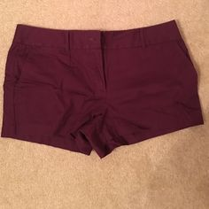 "LOFT shorts! NWT LOFT Riviera shorts in a plum color. 2.5"" inseam. Measures 12"" in length. LOFT Shorts"