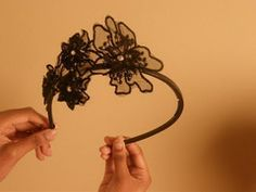 Black Lace Flower Headband Lace Flowers, Chandelier, Ceiling Lights, Detail, My Style, Amazing, Maya, Etsy, Black
