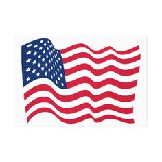 #The national flag of the United States of America Canvas Print - #country gifts style diy gift ideas