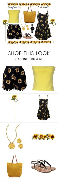 """Sunflowers"" by kimmie-plus2 on Polyvore featuring Mar y Sol, Sam Edelman and Myku"
