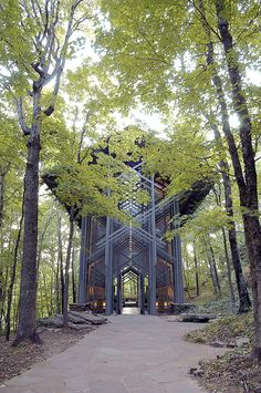 The Thorncrown Chapel in Eureka Springs, Arkansas is considered one of the crowning examples of organic architecture, a philosophy credited to Frank Lloyd Wright that promotes a harmony between the natural world and human habitation. The non-denominational chapel was designed in 1980 by an a http://www.thisiscolossal.com/2013/05/thorncrown-chapel-under-threat/