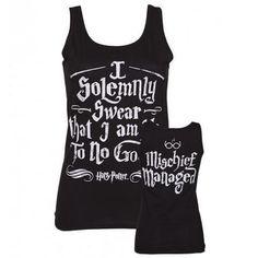 Ladies Harry Potter I Solemnly Swear Mischief Managed Vest : TruffleShuffle.com
