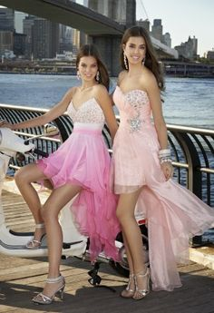Prom Dresses 2013 - Short Sequin Hanky Hem Dress from Camille La Vie and Group USA