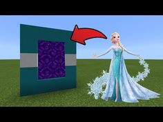 How To Make a Portal to the Elsa Dimension in MCPE (Minecraft PE) - YouTube Minecraft Seeds Xbox 360, Minecraft Portal, Minecraft Cheats, Minecraft Houses Survival, Minecraft Videos, Amazing Minecraft, Minecraft Blueprints, Minecraft Pe, Minecraft Skins