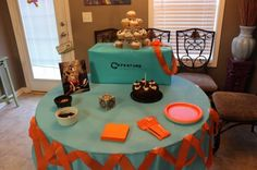 Portal 2 theme birthday party!!
