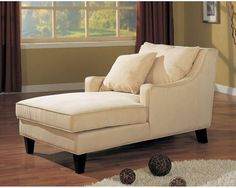 Coaster 500029 Accent Seating Microfiber Chaise Lounge