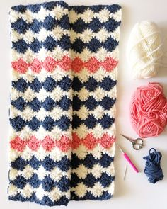 Crochet Harlequin Blanket - Daisy Farm Crafts free pattern