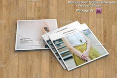 Multipurpose Square Brochure-V459 by Template Shop on @creativemarket