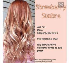 pink + peach blonde