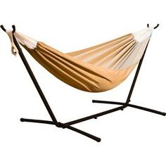sunbrella hammock with stand in sand features   made of sturdy yet  fortable canvas   folds      rh   pinterest