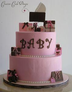 AMAZING BUTTERCREAM BABYSHOWER CAKES   Buttercream Baby Shower Cake