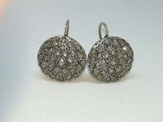 Vintage earrings in gold and coronè rose cut diamonds