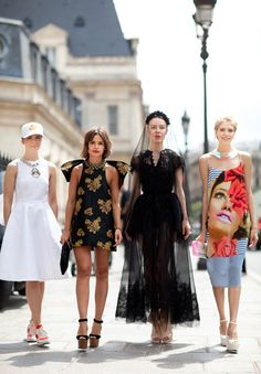 The Russian fashion girls strike again with four game-changing looks.    Read more: Couture 2012 Street Style - Couture 2012 Street Style Photographs - Harper's BAZAAR  Street Style