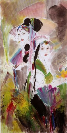 Feng Chiang-Jiang was born in the city of Xian in 1943. Interested in painting since his youth, he taught himself the art.
