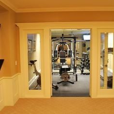Home Gym Basement Gym Design Pictures Remodel Decor And Ideas