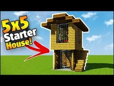 Minecraft How to Build an Easy starter house!Teaching you how to build in Minecraft - Creative building Minecraft City Buildings, Minecraft House Plans, Minecraft Houses Survival, Easy Minecraft Houses, Minecraft Houses Blueprints, Minecraft Videos, Minecraft House Designs, Amazing Minecraft, Minecraft Creations