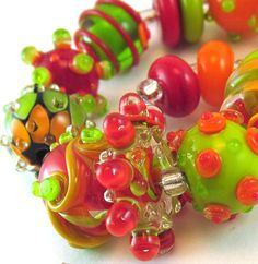 Beautiful lampwork beads #etsy