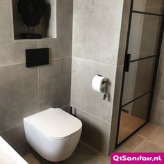 Modern Master Bathroom, Bathroom Design Small, Bathroom Goals, Minimalist Home Decor, Bathroom Toilets, Bathroom Inspiration, Building A House, Sweet Home, New Homes