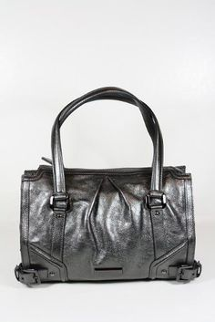 Burberry Handbags Metallic Anthracite (Gray) Leather