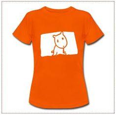Camiseta de corte ceñido para mujeres, 100% algodón, marca: B