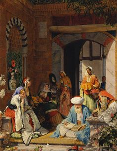 """John Frederick Lewis - """"And the Prayer of Faith Shall Save the Sick"""" ... A very important painting."""