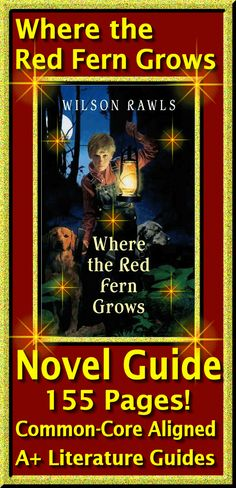 Where the Red Fern Grows 155 page Literature Guide!  Everything a teacher needs!