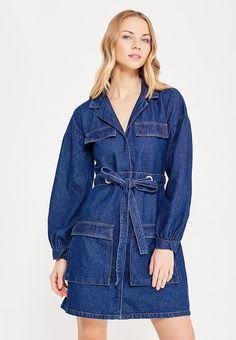 Платье джинсовое LOST INK UTILITY TIE FRONT DENIM DRESS купить за 2 630 руб LO019EWYBP27 в интернет-магазине Lamoda.ru