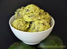No Dairy Avocado Ice Cream by mymansbelly #Avocado #ice cream #dessert #recipe
