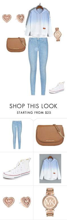 """""""School outfit"""" by alyissa-narvais ❤ liked on Polyvore featuring 7 For All Mankind, MICHAEL Michael Kors, Converse, Michael Kors, women's clothing, women's fashion, women, female, woman and misses"""