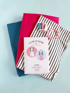 Zadie dress sewing kit with ponte fabric - Tilly and the Buttons