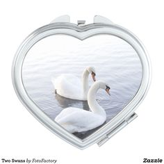 Two Swans Compact Mirror