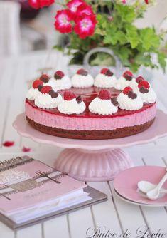 Dulce de Leche: Malinovo tvarohová torta Cheesecake, Sweet, Recipes, Fruit Cakes, Food, Tarts, Decorations, Dulce De Leche, Sweets