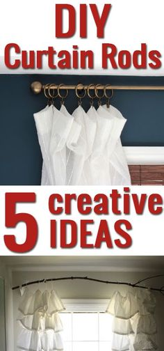 Why spend so much on curtain rods when it's this easy to make them?! Love these ideas!