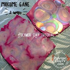 Make a Mokume Gane Veneer using colored metal foils and polymer clay – Create Along with Polymer Clay TV Polymer Clay Recipe, Polymer Clay Ornaments, Polymer Clay Canes, Polymer Clay Flowers, Polymer Clay Miniatures, Polymer Clay Necklace, Polymer Clay Pendant, Polymer Clay Projects, Polymer Clay Creations